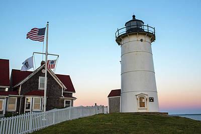 Nobska Light Falmouth Ma Cape Cod Sunset Art Print
