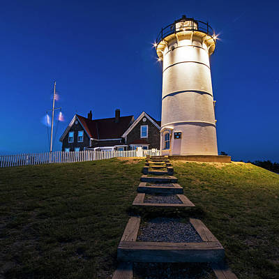 Nobska Light Falmouth Ma Cape Cod Art Print