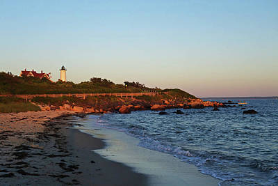 Photograph - Nobska Light From Woods Hole Beach Falmouth Ma Cape Cod by Toby McGuire