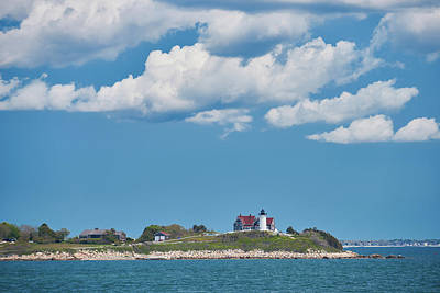 Photograph - Nobska Light On Nantucket Sound by Walter Rowe