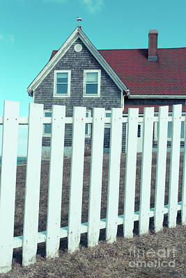 Photograph - Nobska Light Traditional White Picket Falmouth Ma by Edward Fielding