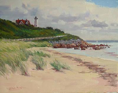 Cape Cod Painting - Nobska Lighthouse by Dianne Panarelli Miller