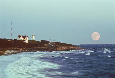 Photograph - Nobska Point And Moon by Paul and Janice Russell