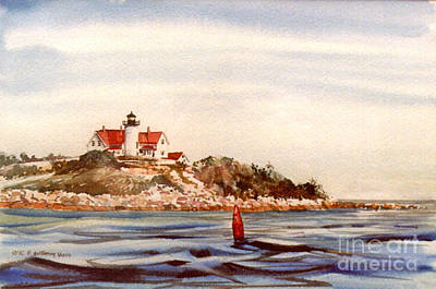 Marker Wall Art - Painting - Nobska Point Light by P Anthony Visco
