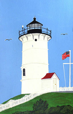 Painting - Nobska Point Lighthouse Tower by Frederic Kohli