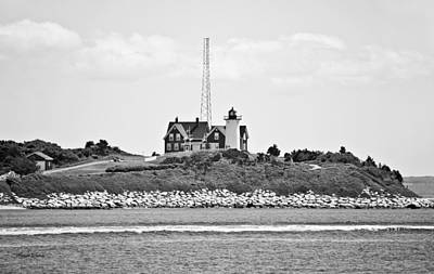 Keepers House Photograph - Nobska Point Lighthouse Woods Hole Falmouth Massachusetts by Michelle Wiarda