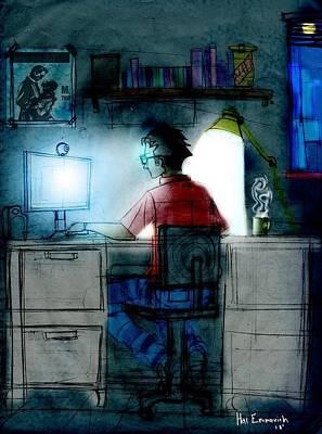 Coffe Digital Art - Noche by Hal Emmerich
