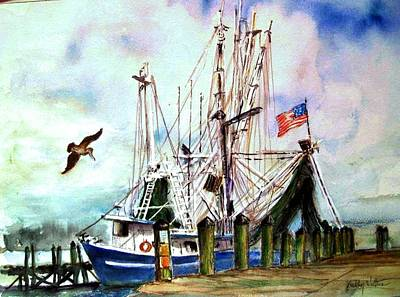 Painting - Nocho Boat by Bobby Walters