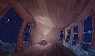 Painting - Nocturnal Interior by Scott Kirby