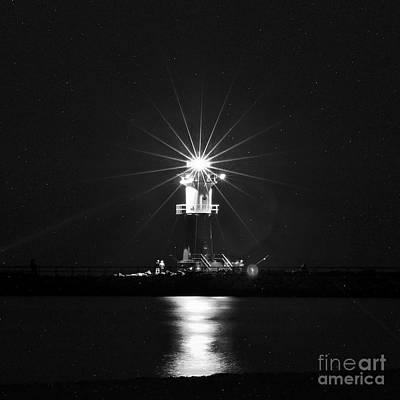 Nocturnal Lighting On The Baltic Sea Art Print