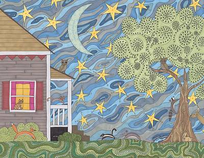Nocturnal Parade Art Print