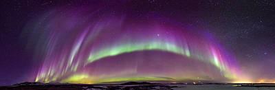 Photograph - Nocturnal Rainbows by Sigurdur William Brynjarsson