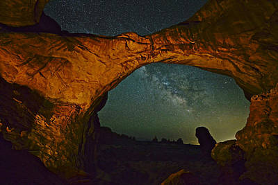 Photograph - Nocturnal Rock Climbing 101 by Don Mercer