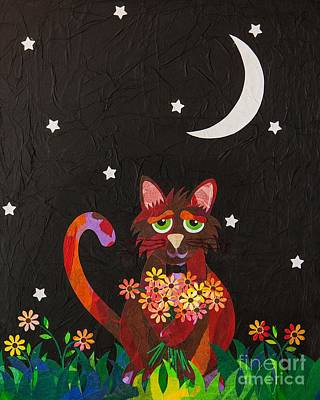 Mixed Media - Nocturnal Romantic by Diane Miller