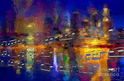 Digital Art - Nocturne 1 by Lon Chaffin