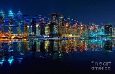 Digital Art - Nocturne 2 by Lon Chaffin