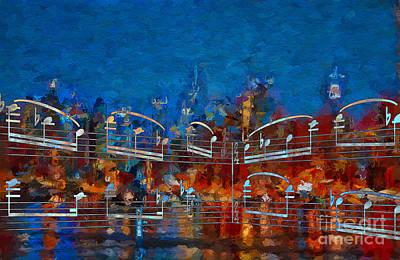Digital Art - Nocturne 3 by Lon Chaffin