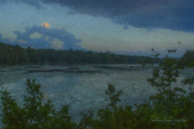 Nocturne At Ames Long Pond Art Print