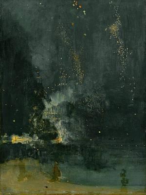 James Abbott Mcneill Whistler Painting - Nocturne In Black And Gold by James Abbott McNeill Whistler