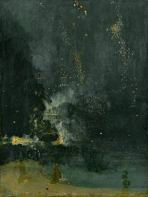 Whistler Painting - Nocturne In Black And Gold by MotionAge Designs