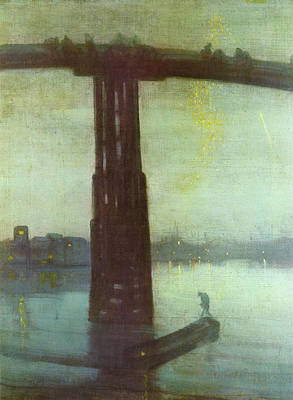 Nocturne Painting - Nocturne In Blue And Gold - Old Battersea Bridge by James Abbott McNeill Whistler