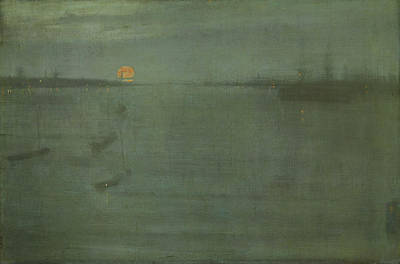 Whistler Painting - Nocturne In Blue And Gold - Southampton Water by James Abbott McNeill Whistler