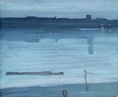 Whistler Painting - Nocturne In Blue And Silver - Chelsea by James Abbott McNeill Whistler