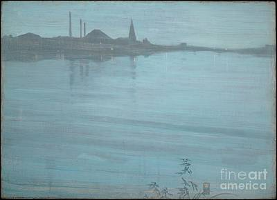 Whistler Painting - Nocturne In Blue And Silver by MotionAge Designs