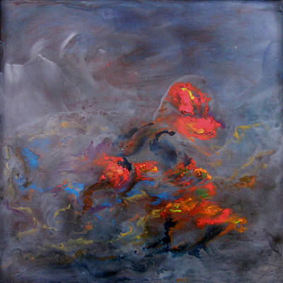 Encaustic Painting - Nocturne by Kyle Evans