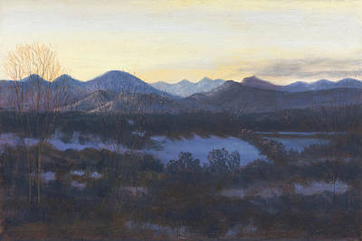 Nocturne On The Front Range Of Colorado Art Print by Diane Edwards