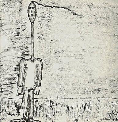 Drawing - Nod by Mario Perron