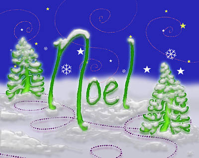 Digital Art - Noel by Adria Trail