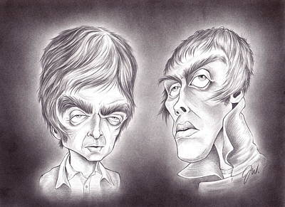 Liam Drawing - Noel And Liam Gallagher by Jamie Warkentin