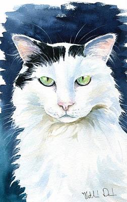 Painting - Noel Cat Painting by Dora Hathazi Mendes