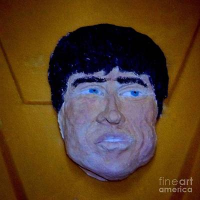 Photograph - Noel Ceramic Portrait by Joan-Violet Stretch
