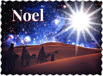 Photograph - Noel Christmas Card by Aurelio Zucco
