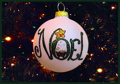 Noel Ornament Christmas Card Print by Morgan Carter