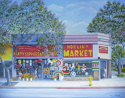 Painting - Noelia's Market by Miguel A Chavez