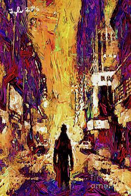 Noir 2d-the Doomed City Art Print