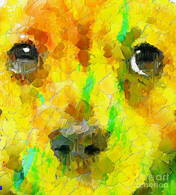 Cute Dogs Digital Art - Noise And Eyes In The Colors by Stefano Senise