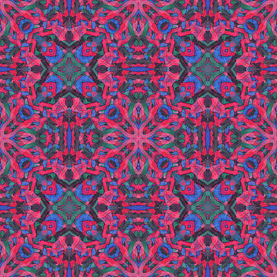Digital Art - Noise Soup -multi-pattern- by Coded Images
