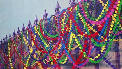 Mardi Gras Painting - Mardi Gras Beads by Trisha Lyons