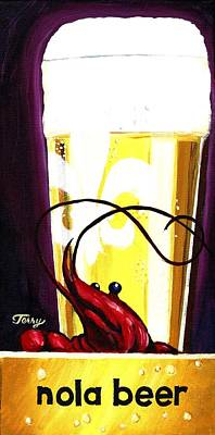 Painting - Nola Beer by Terry J Marks Sr