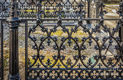 Photograph - Nola Craftsmanship - Wrought And Cast Iron Fence by Kathleen K Parker