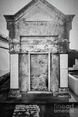 Photograph - Nola Tomb 2 - Charcoal by Kathleen K Parker