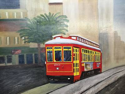 Loyola Painting - Nola Trolley by Cindy Prince
