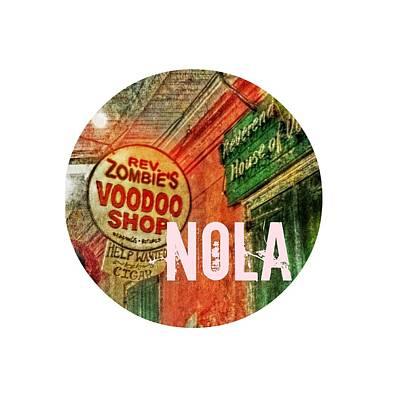 Digital Art - New Orleans Voodoo T Shirt by Valerie Reeves
