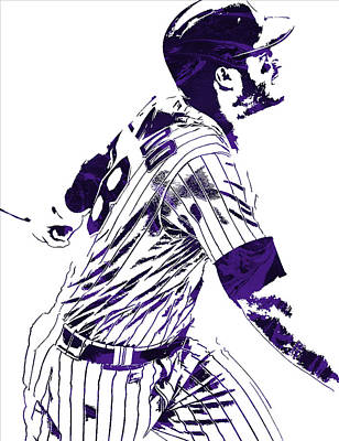 Grass Mixed Media - Nolan Arenado Colorado Rockies Pixel Art 3 by Joe Hamilton