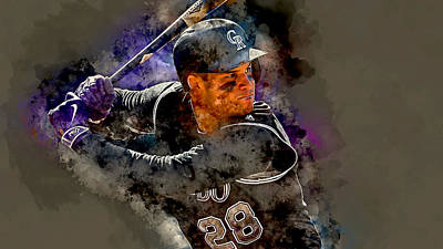 Mixed Media - Nolan Arenado by Marvin Blaine