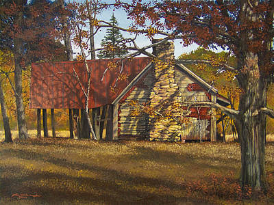 Egg Tempera Painting - Nolan Corners Farmhouse by Peter Muzyka